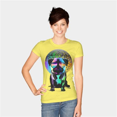 Disco Pug T Shirt Mens disco pug t shirt by clingcling design by humans