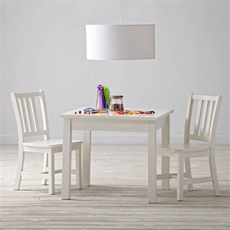 white table and chairs wooden play table chair sets the land of nod