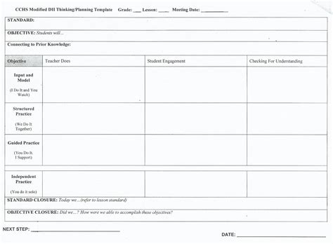Teaching Strategies And Information Mr Tyler S Lessons Modified Lesson Plan Template