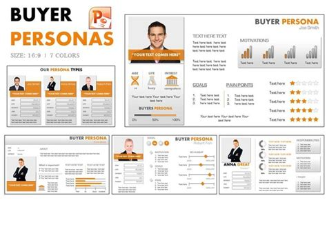 Buyer Persona Powerpoint By Yes Presentations On Creative Market Presentations Pinterest Marketing Persona Template