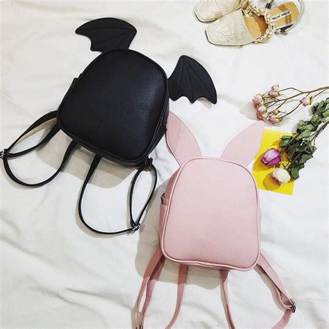 Overall Wanita Rabbit Overall freeshipping kawaii ear rabbit bat bag backpack
