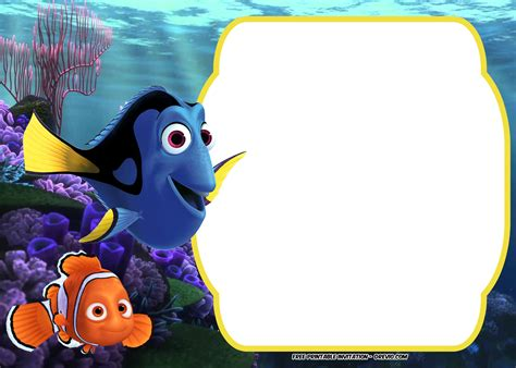 finding nemo invitations template free finding dory baby shower invitation template free