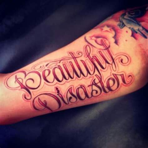 beautiful disaster tattoo 42 best beautiful disaster tattoos that say images on
