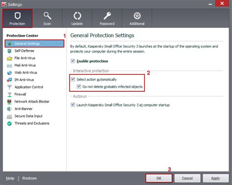 reset kaspersky small office security 3 how to change general protection settings in kaspersky