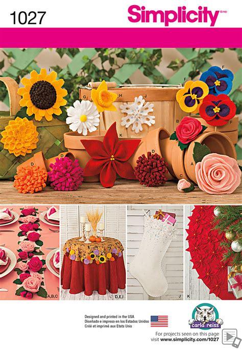 zinnia pattern review simplicity 1027 craft felt flowers