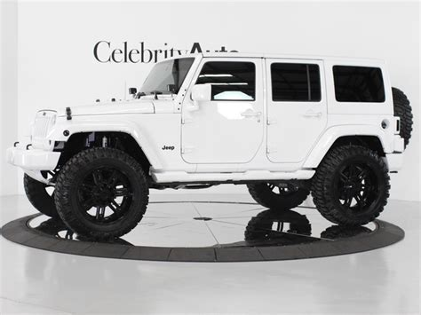 White 4 Door Jeep Wrangler I Prefer The Black Top