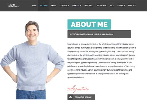 Website Resume by Make A Resume Website How To Personal From Theme