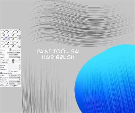 paint tool sai free pack hair brush for painttoolsai by natakiro on deviantart