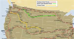 Amtrak Train Route Map by Former Amtrak Routes