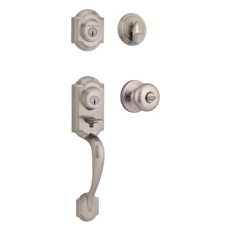 kwikset montara single cylinder satin nickel handleset