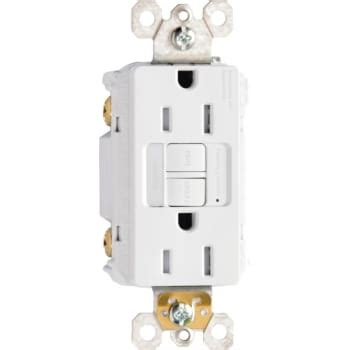gfci with night light legrand 15 amp gfci receptacle with night light white
