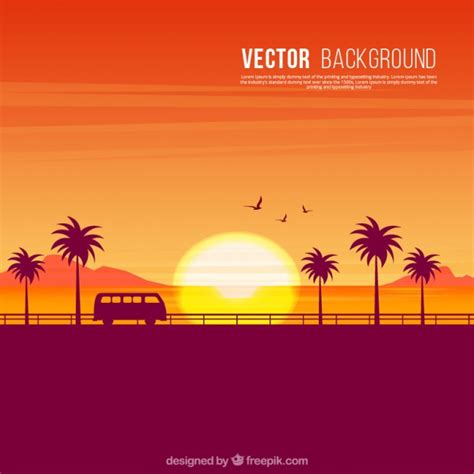 sunset vectors photos and psd files free download sunset vector background clipart library