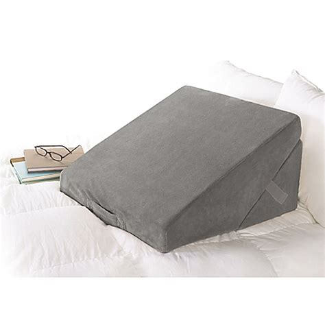 wedge bed pillows brookstone 174 4 in 1 bed wedge pillow bed bath beyond