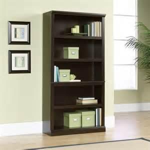 Sauder Five Shelf Bookcase 5 Shelf Bookcase In Jamocha Wood 410375
