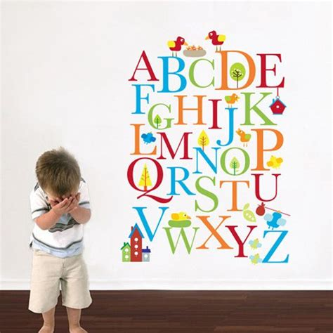 alphabet nursery wall decal playroom wall decal