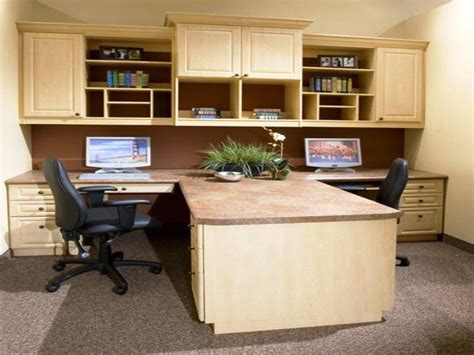 Wood Dual Desk Home Office Furniture