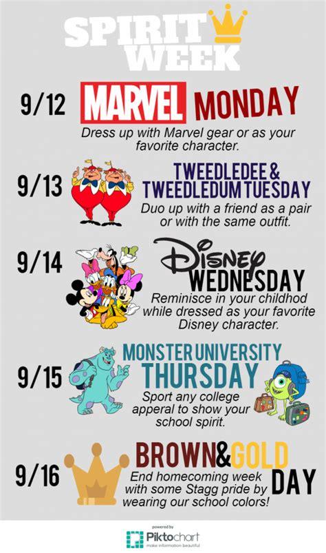 spirit week september  stagg