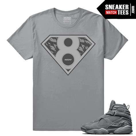 Cool Matching T Shirts Air Retro Cool Grey 8s Matching Shirt