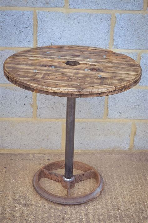 upcycled cable reel poseur bar table by brunswickvintage