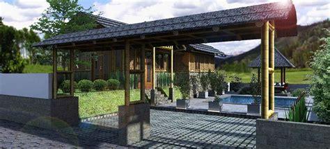 desain gapura dari bambu gambar desain rumah bambu modern nan unik rumah
