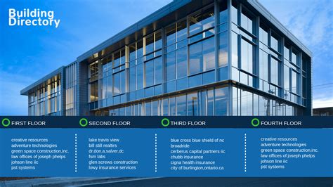 building directory template template gallery