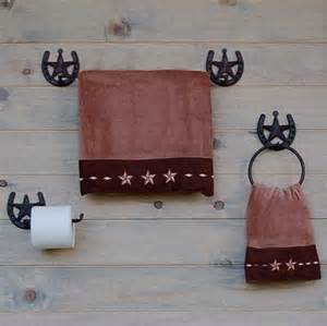 Horseshoe Bathroom Accessories Western Horseshoes And Sars Bath Hardware Towel Bar And Ring Toilet Tissue Holder