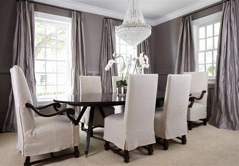 Gray Dining Room Curtains Gray Dining Room Wainscoting Transitional Dining Room