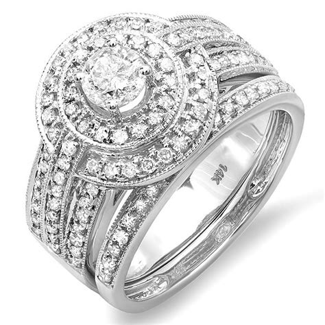 wedding ring sets for white gold