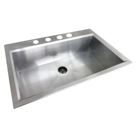 glacier bay dual mount stainless steel 33 in 4 hole