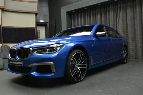 bmw v12 bmw m760li xdrive v12 with individual paint estoril blue