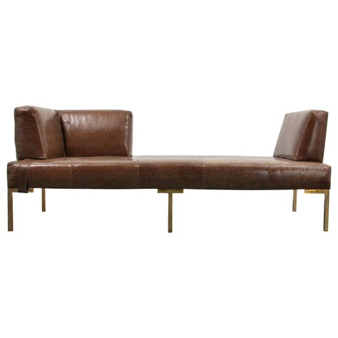 leather daybed luigi gentile leather daybeds or chaise lounges two available at 1stdibs