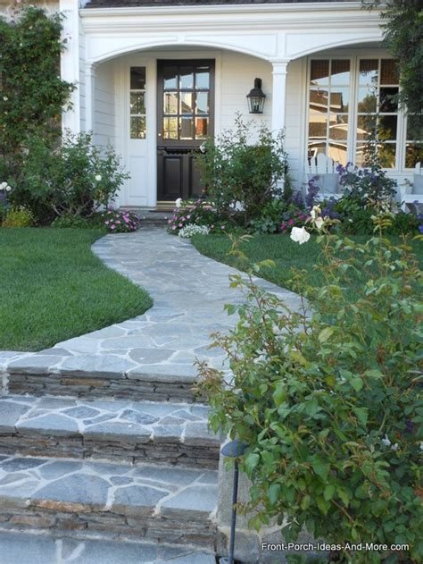 beautiful porches of newport beach stone walkway