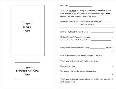 fill in the blanks thank you letter fill in the blank card gifts