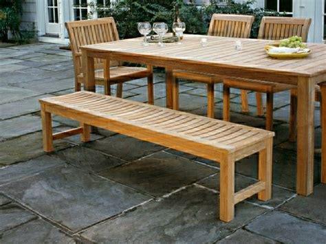 Table Patio En Bois by Table De Jardin En Bois Le Choix Respectueux