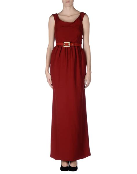 Longdress Gucci With Label lyst gucci dress in