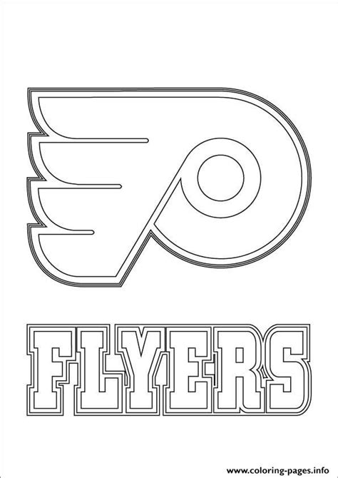 nhl coloring pages philadelphia flyers logo nhl hockey sport coloring pages