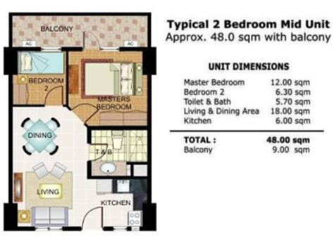 Illumina Residences Manila Condominiums For Sale Real 54 Sqm House Plans