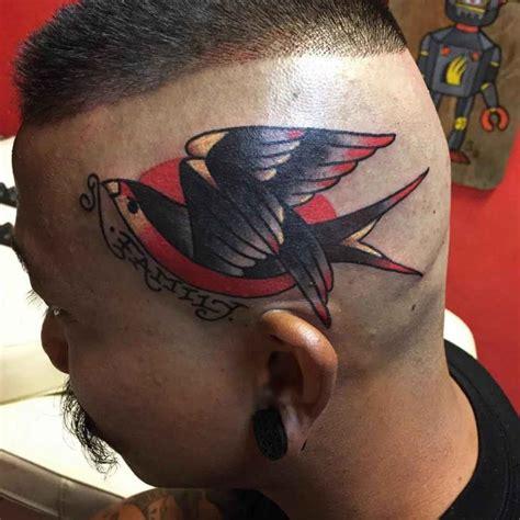 tattoo pen on head family bird tattoo on head best tattoo ideas gallery