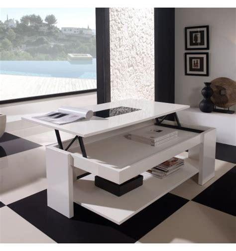 Superbe Table Basse En Verre Relevable #3: Table-basse-relevable-design-blanche.jpg
