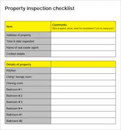 Property Inspection Template by 14 Home Inspection Checklists Free Sle Exle Format