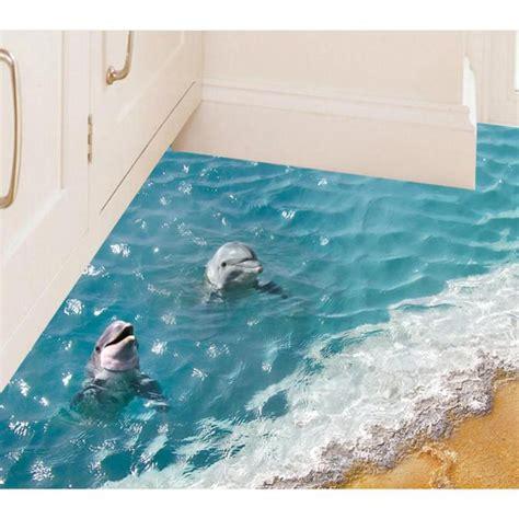 Bathtub Floor Stickers by Aliexpress Buy 60 90cm 3d Dolphin Floor