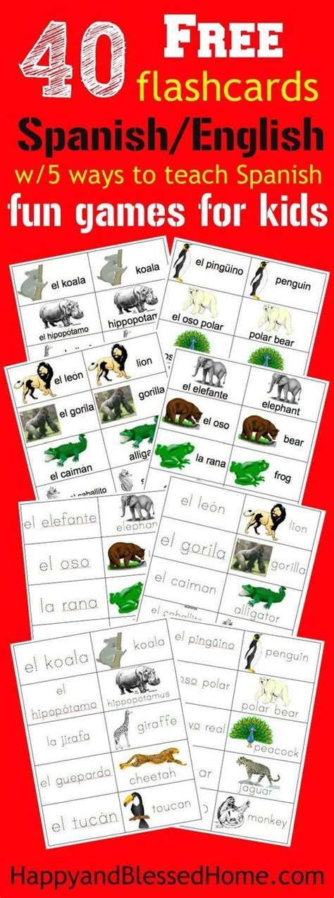 free printable spanish flashcards for toddlers 23 best montessori in spanish images on pinterest