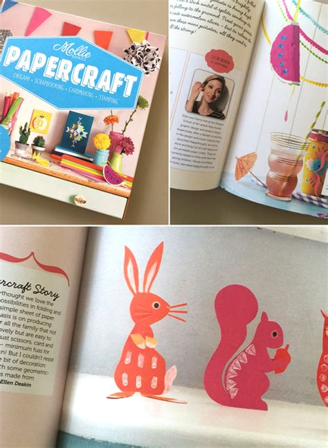 Paper Crafting Books - papercraft book on watermelon pinata and squirrels