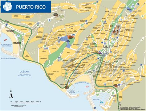 porto gran canaria map cities towns map large detailed tourist map of