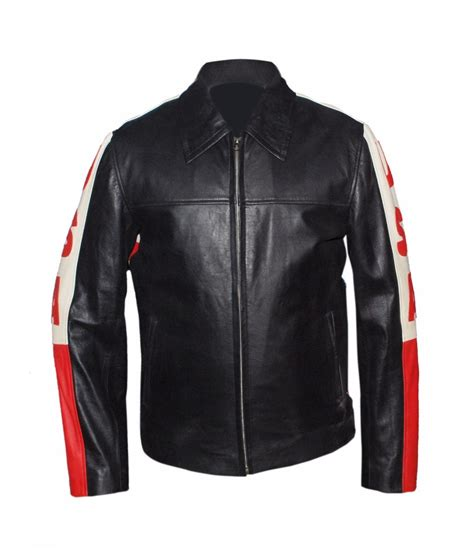 Jaket American U S A American Flag Biker Style Leather Jacket Hifileather