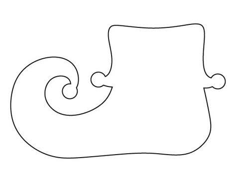 printable elf shoes elf shoe pattern use the printable outline for crafts