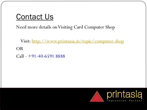 Visiting Card For Computer Shop