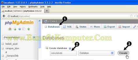 membuat wordpress lewat hp membuat database dengan phpmyadmin bunafit komputer