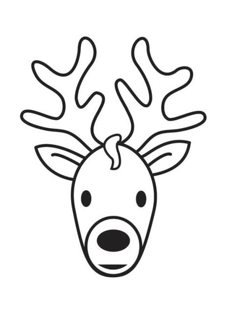 cartoon deer coloring pages cartoon deer head cliparts co