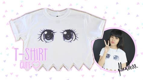 Kawaii Top Diy Ropa Kawaii Crop Top Ojos Anime Akari